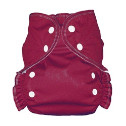 One Size Duo diaper Burgundy-