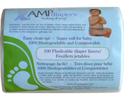 AMP diapers flush-able liners