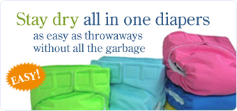 Stay dry all in one diapers as easy as throwaway's without all the garbage